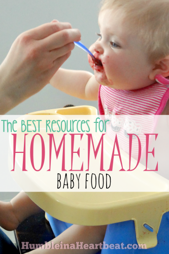 A quick search on Google for homemade baby food sites returns plenty of results! Here are the best sites and books from a mom who has fed both of her daughters homemade baby food.