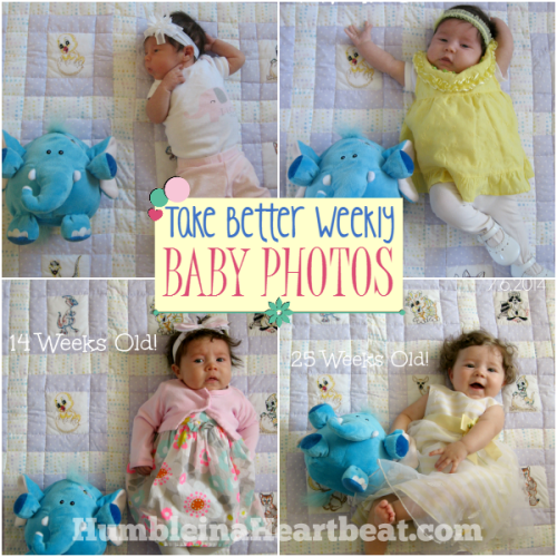Tips for Taking Better Weekly Baby Pictures