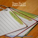 Diaper Bag Lists – Free Printable!