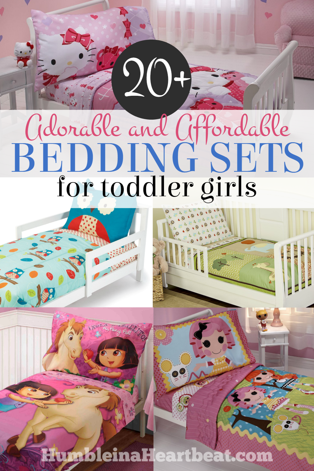 Toddler Bedding Sets for Girls Humble in a Heartbeat