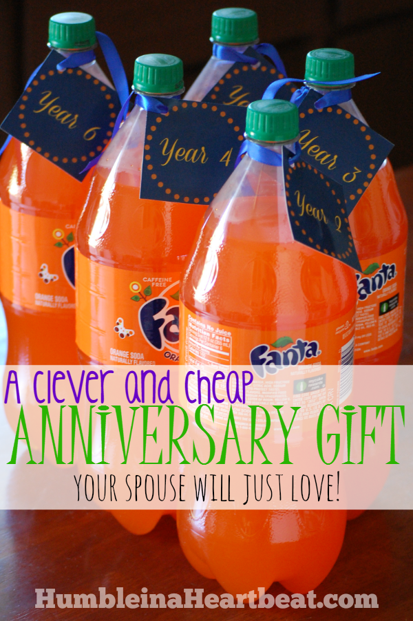 If funds are low around your anniversary, create this really cheap, yet clever, anniversary gift that will be more meaningful than just grabbing a gift at the store!