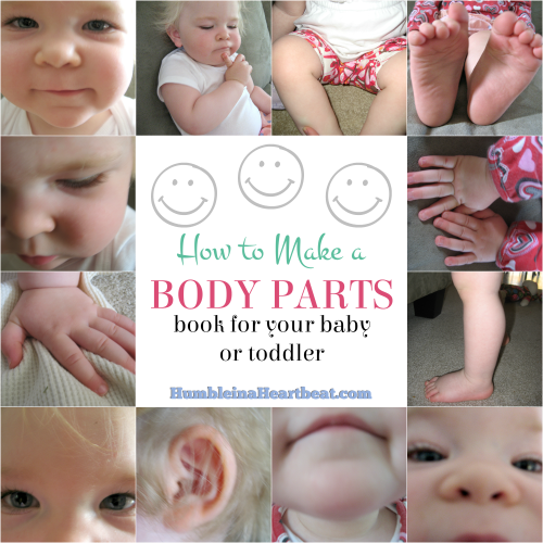 How to Make a Body Parts Book for Your Child