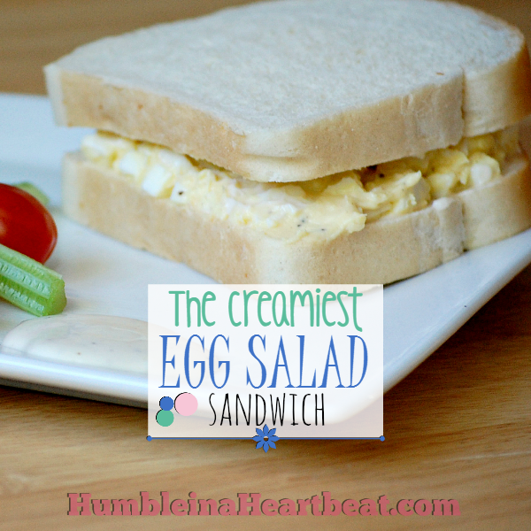 The Creamiest and Best Egg Salad Sandwich | This sandwich is so yummy and very cheap. It's the miracle whip and one special technique that make this the best sandwich!