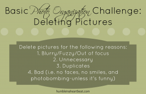Basic Photo Organization: Deleting Pictures
