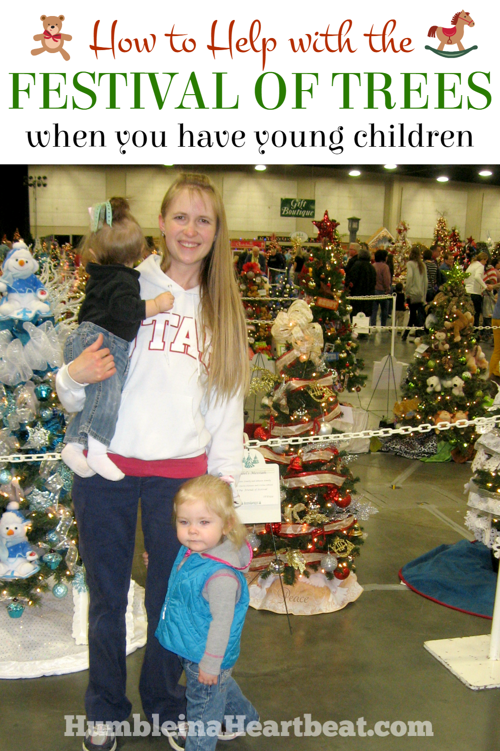 There are so many ways to help with The Festival of Trees in Salt Lake City even when you have young kids!