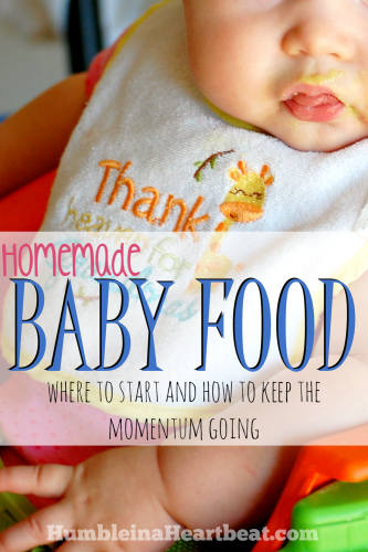 Homemade baby food can be exciting and overwhelming all at once. Here is a great guide to help you start and continue as your child explores more and more foods.