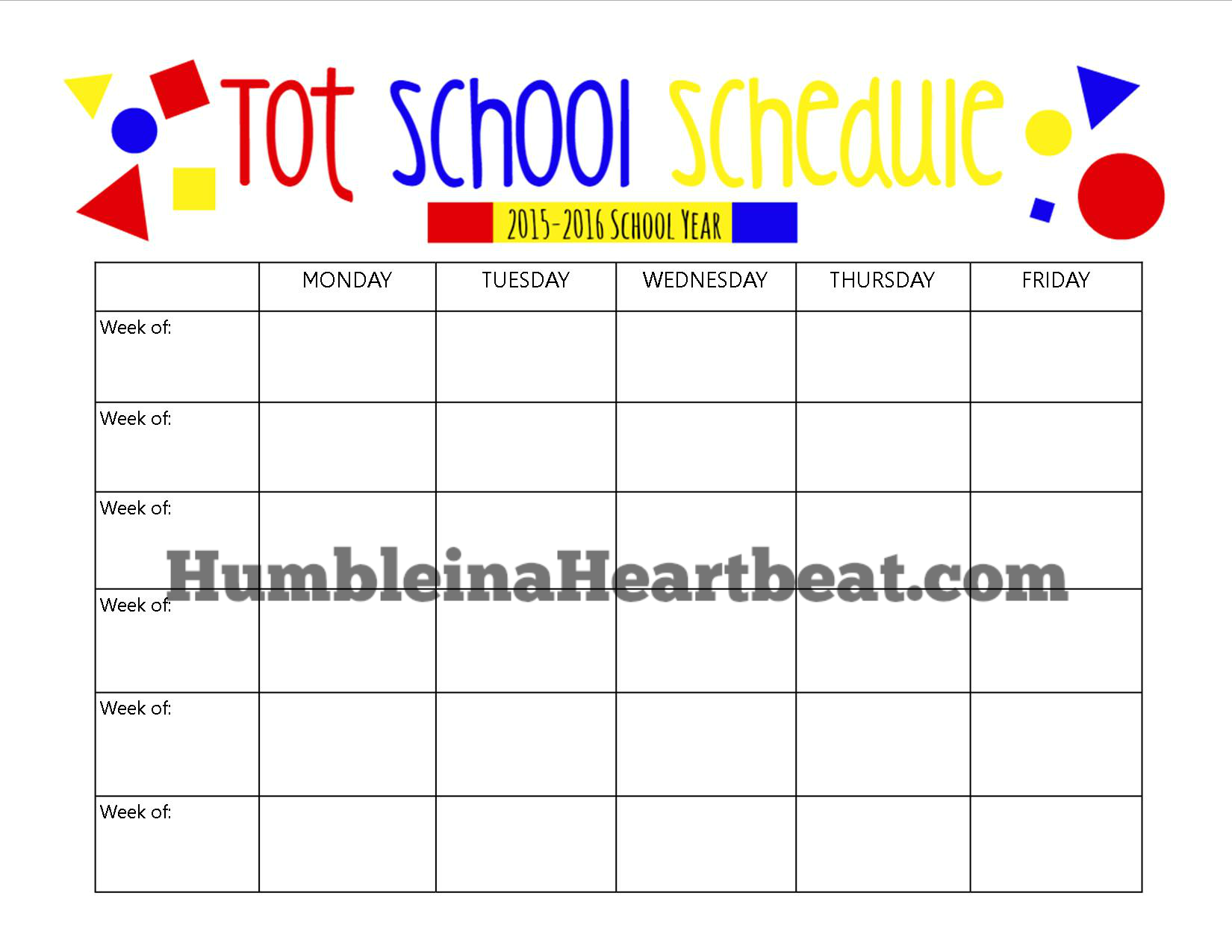 Teaching your toddler can be really simple. Just spend 5 minutes planning out six weeks and spend 5 minutes each day on one new topic! (Free Printable schedule)