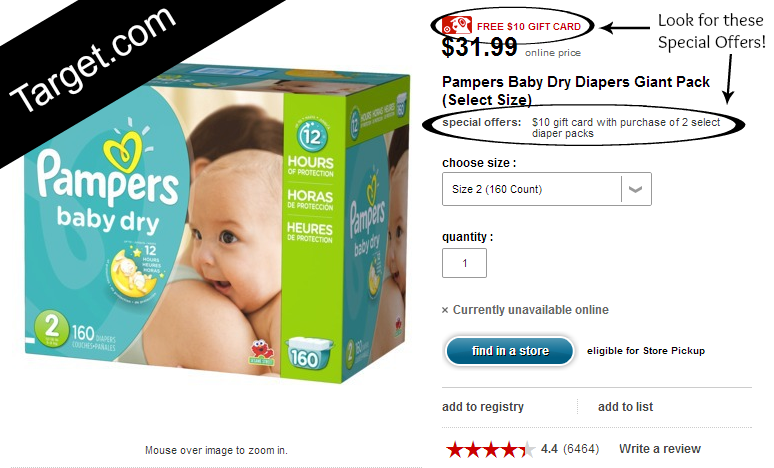 Ways to Save Money on Diapers at Target.com