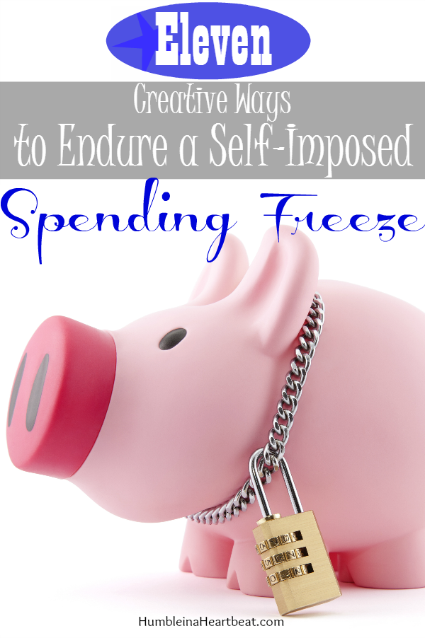 In need of some ideas to get you through a period of no spending? These ideas will shift your focus from spending money to being content with what you have.