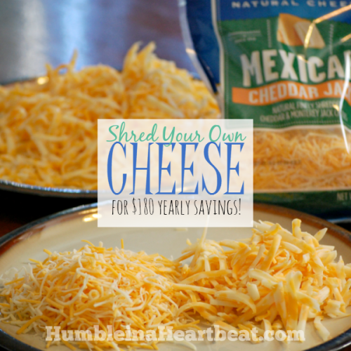 Shred Your Own Cheese for Significant Savings!