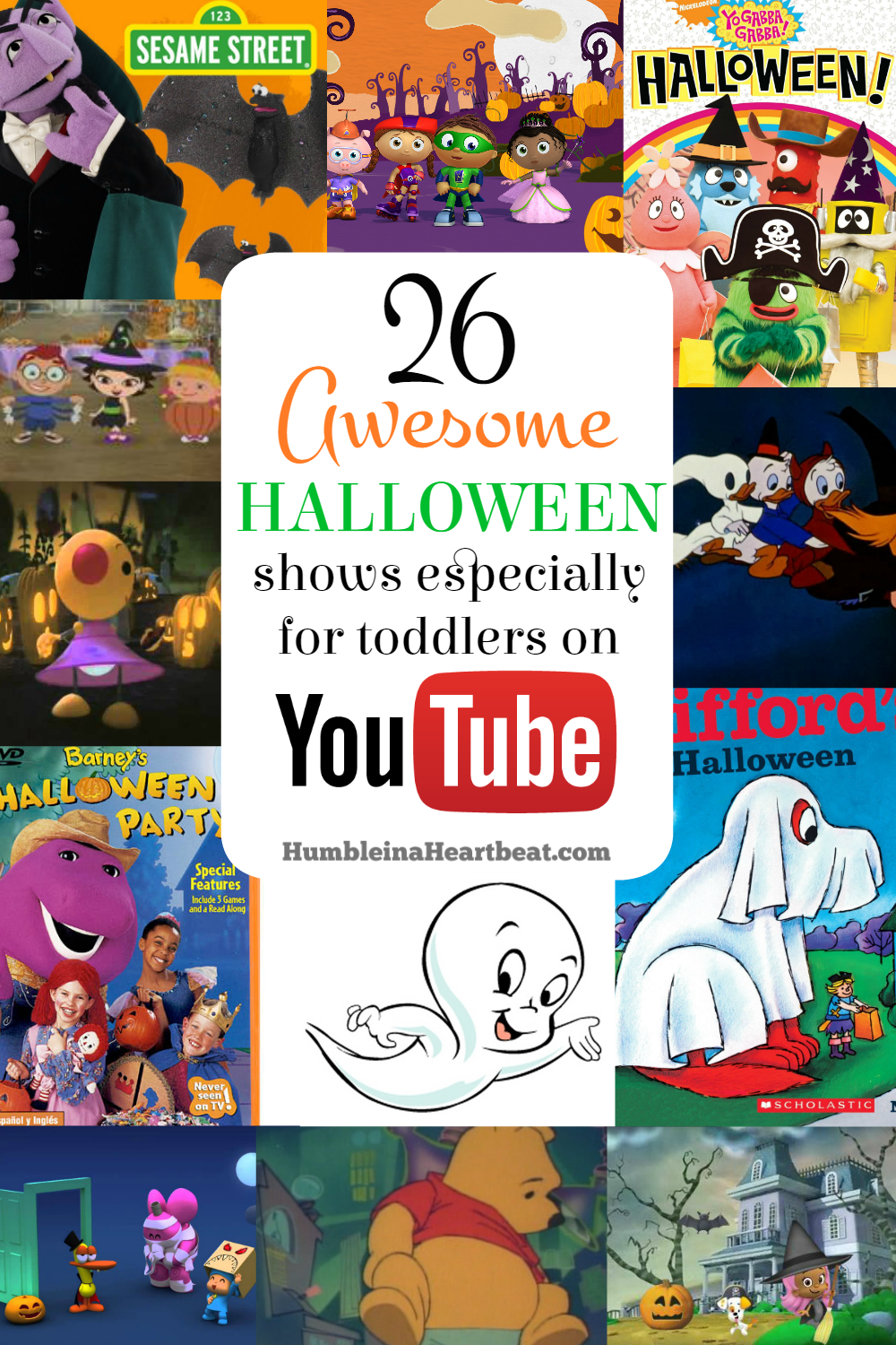 Get your child in the Halloween spirit by letting them watch some spooky shows on YouTube! Perfect for toddlers and preschoolers alike!