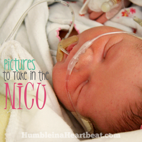 Pictures to Take While Your Baby's in the NICU