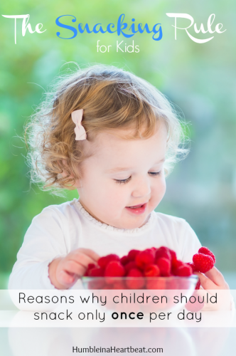 At your wits end with getting your child to eat? Implement the snacking rule and see if your child's eating habits change.