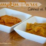 Cost Comparison: Pumpkin Puree (Canned vs. Fresh)