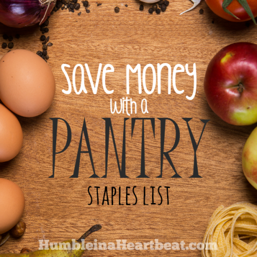 How to Start a Pantry Staples List to Save Money