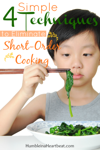 When you let your child decide what to eat on a daily basis, it leads to short-order cooking. Here's how you can reverse this awful dilemma by sticking to your guns and making just one meal for your family at dinner time!