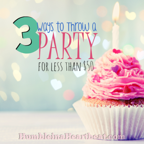 3 Ways to Throw a Party for Less Than $50