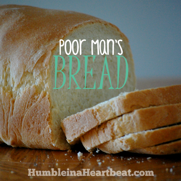 This bread costs just $0.51 per loaf to make and only requires 4 ingredients: flour, salt, yeast, and water!