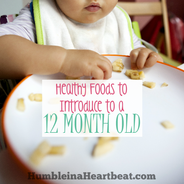 Once your baby turns 1 year old, he can eat almost any food you can think of. Here are 7 foods I introduced to my 12 month old and 6 foods that I reintroduced. It's so important to give little ones a variety!