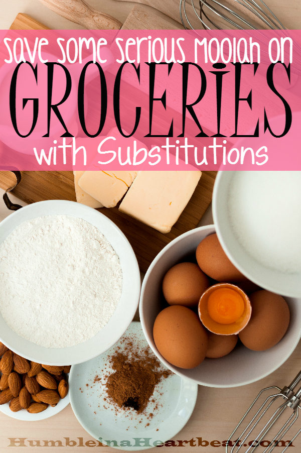 Substituting one ingredient for another is a money saving habit to help you control your grocery budget. Who knows, maybe you'll discover new recipes by making your meals this way!