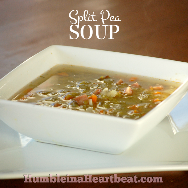 You're really missing out if you've never tried Split Pea Soup. It may not look real pretty, but it's a scrumptious lunch or dinner for less than $0.90 per serving!