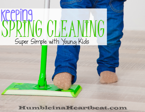 Super Simple Spring Cleaning with Young Children