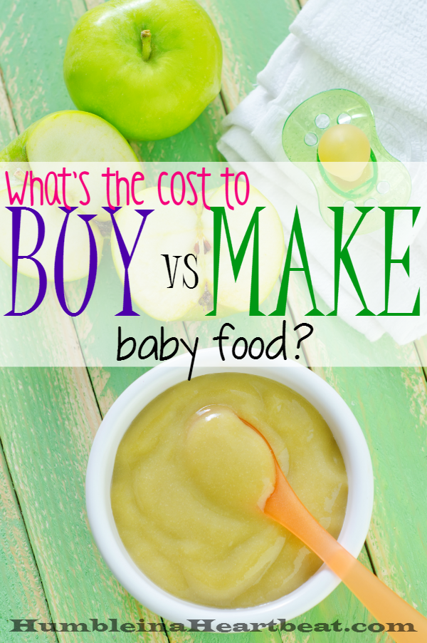 On the fence about whether you should make or buy baby food? Here's a detailed cost comparison that can help you see the price difference and other factors to consider before you take one side or the other.
