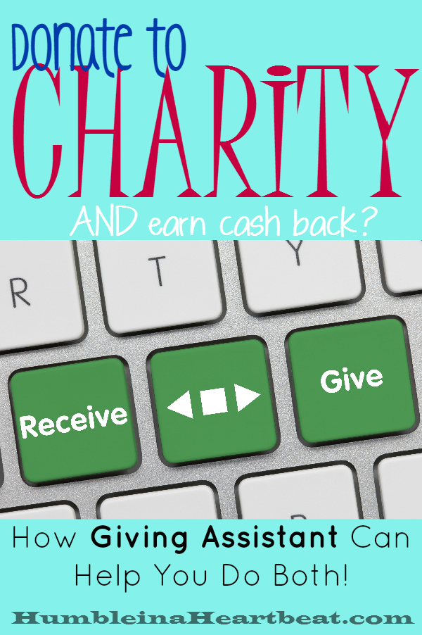 Earn cash back by shopping through Giving Assistant and choose how much you'd like to donate from your earned cash back to a charity of your choice! Giving back is seriously as easy as the click of a button now!