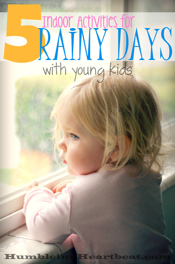 When the sun isn't shining, these activities will be a delight for your toddler!