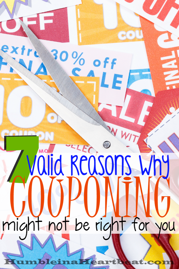 If you're couponing only to save money, maybe you should rethink your strategy. Couponing has never been for me, and here's why it might not be for you either.