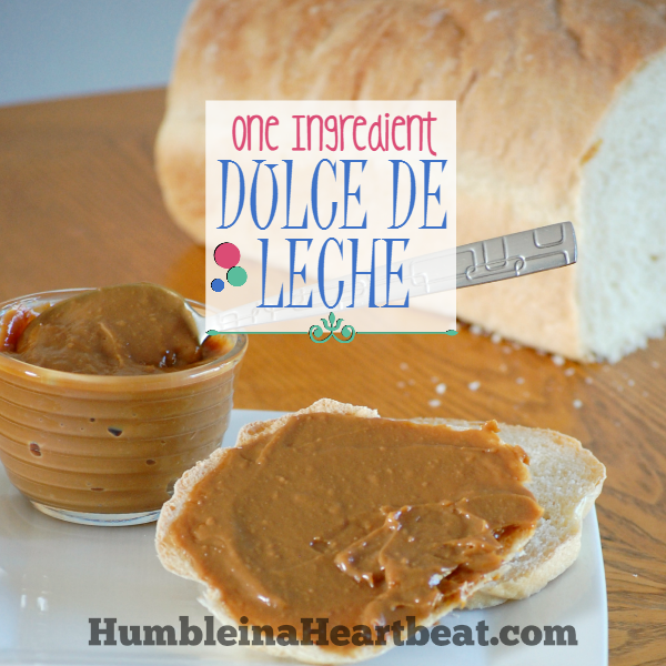 One Ingredient Dulce de Leche - It only takes one ingredient to make this delicious caramel-like sauce. You can enjoy it on ice cream, bread, cookies, and more!