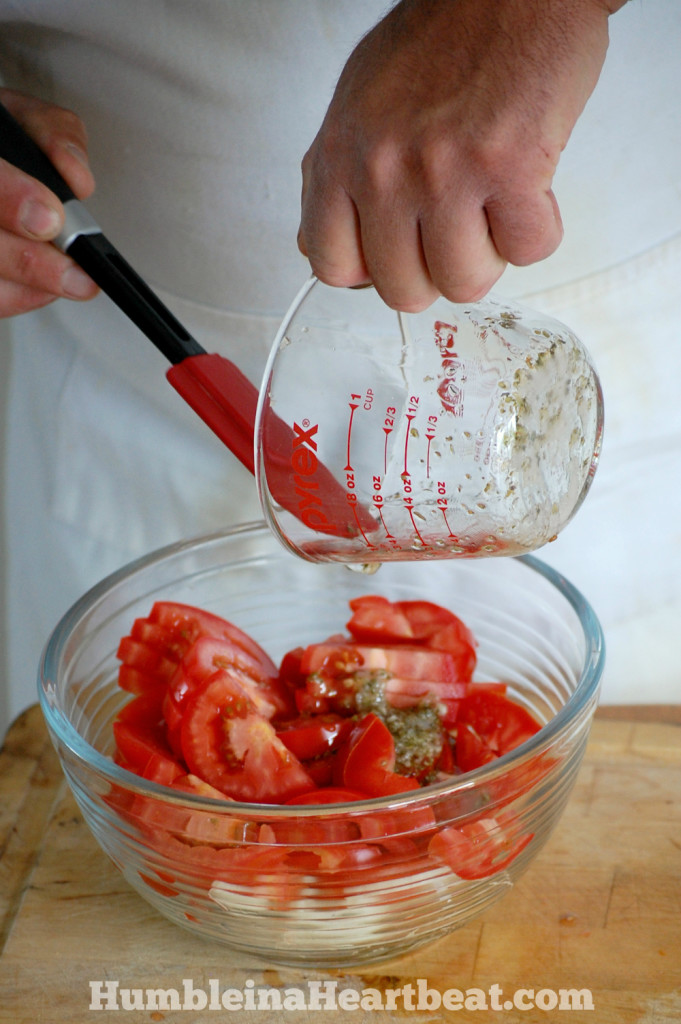 Make this tomato onion salad as a side dish at any barbecue this summer and people will be coming back for more!