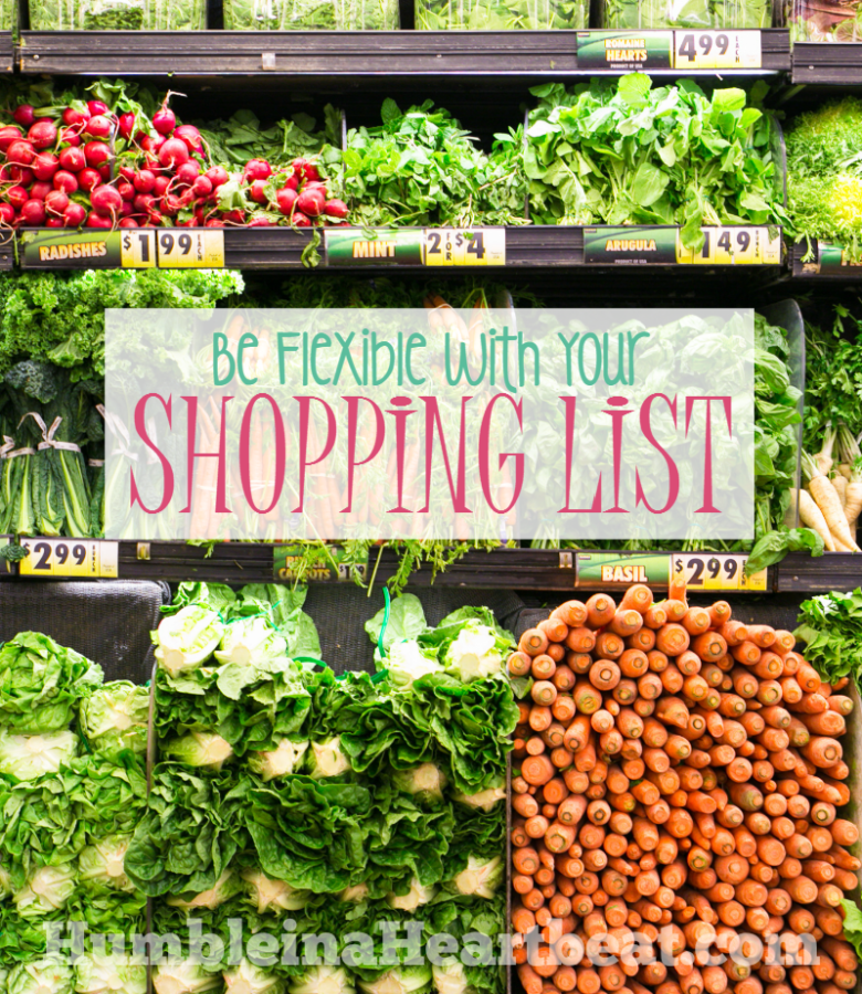 If you want to save more money on groceries, consider being more flexible with your shopping list. Deviate a little from what you need to buy and you can save more in the long run.