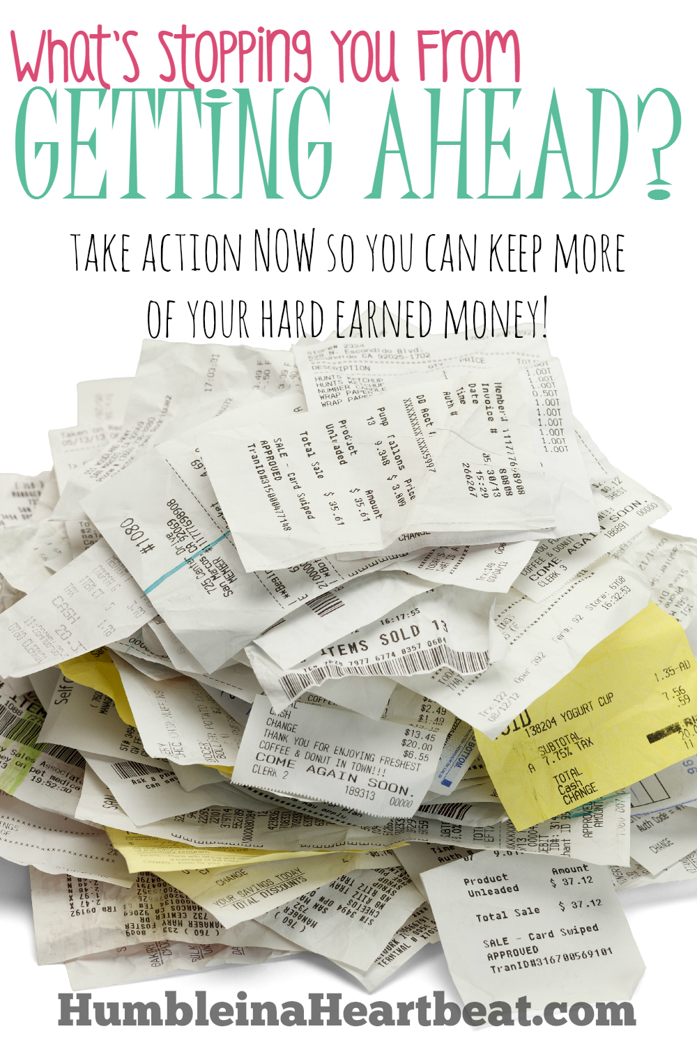 YOU, and only YOU, are the one stopping yourself from getting ahead! Work on your money management issues one at a time and break free from the paycheck to paycheck life once and for all!