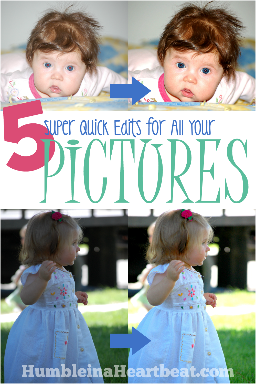 Most pictures only need these 5 quick edits. Find out what they are and how to do them in PicMonkey so you can use more of your pictures for photo projects!