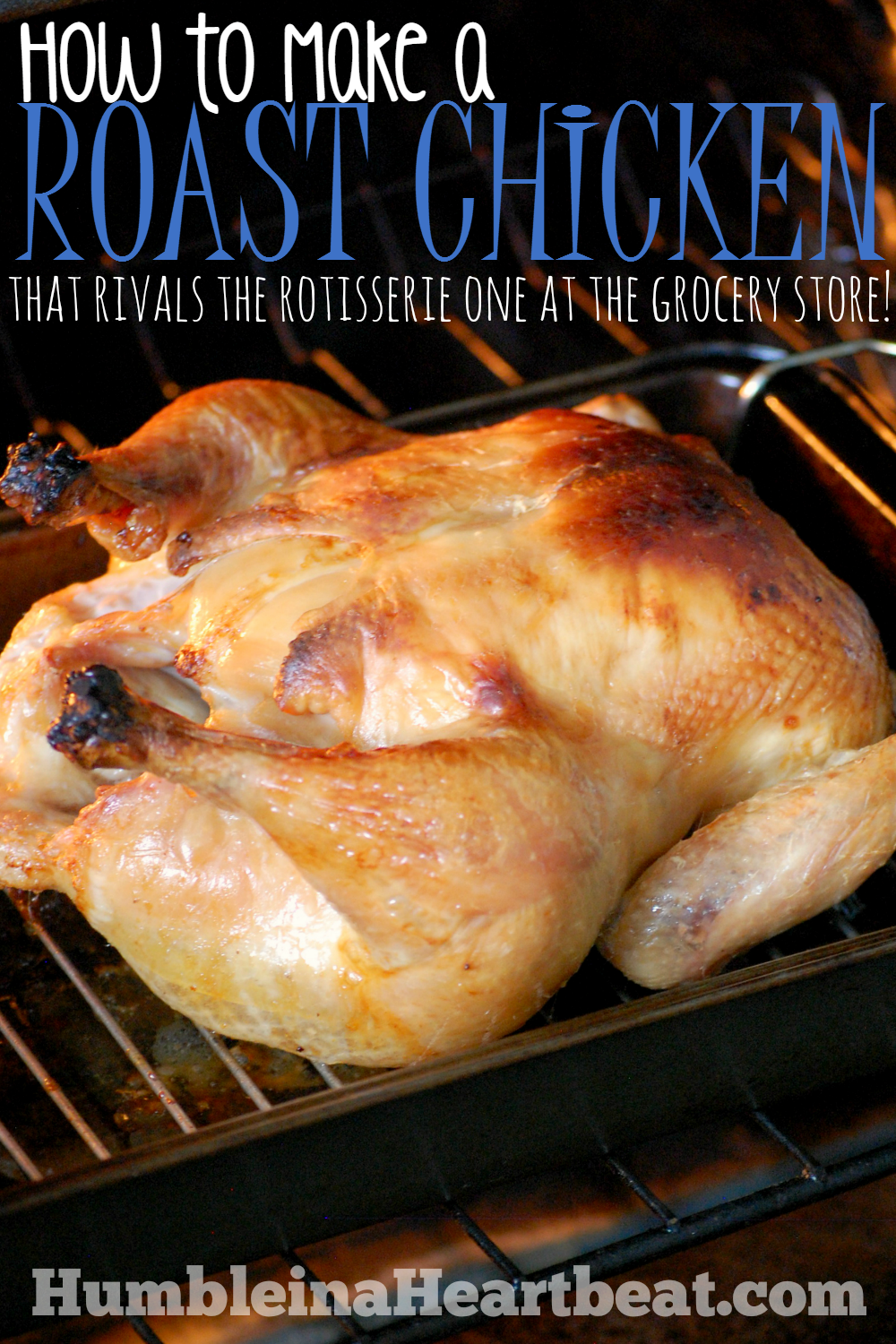 If you'd like to make a chicken at home that tastes just as good as (or better than) the rotisserie one at the grocery store, all you need is a couple ingredients and some extra time. It is worth every minute!