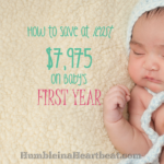 10 Ways to Save on First Year Baby Costs
