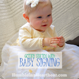 Getting Started with Baby Signing