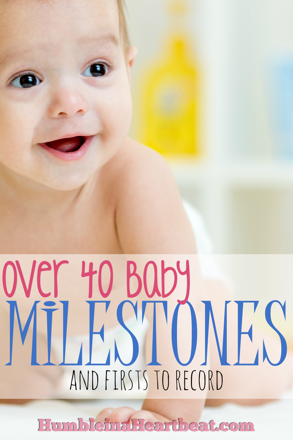 Who knew there were so many milestones and firsts in a baby's first year of life? Keep this list handy so you never forget to record a date, take a picture, or write a little something to help you remember the moment.