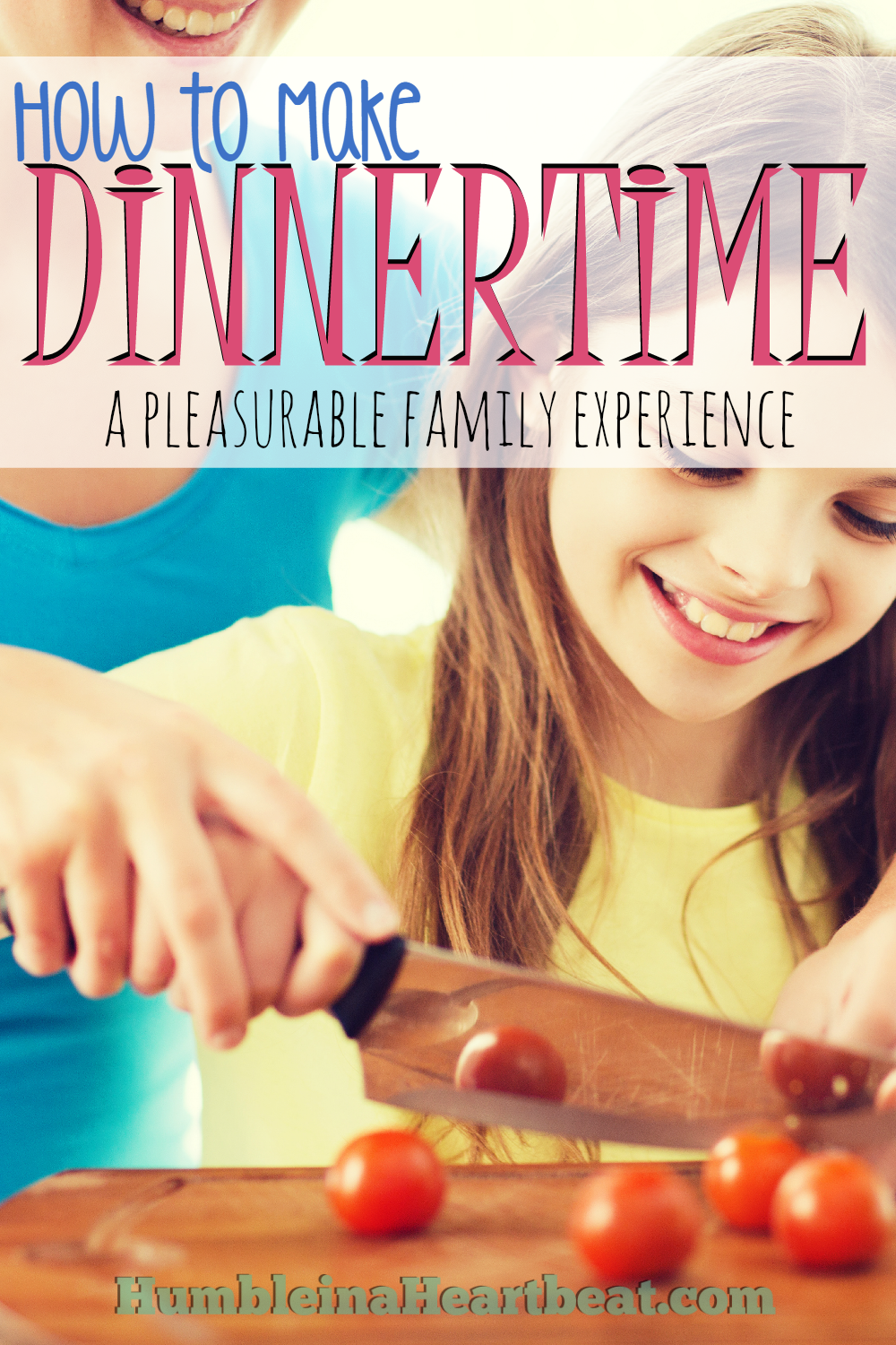 A relaxing and enjoyable family dinner starts in the kitchen. If you are taking time to enjoy the cooking part, you will start to have a wonderful experience at the dinner table, even with kids!