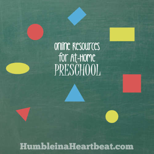 Online Resources for At-Home Preschool