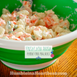 Ready to add a new potato salad recipe to your repertoire? This Ensalada Rusa is a delicious and cheap salad from South America that goes perfectly with any barbecue and would be a potluck favorite.