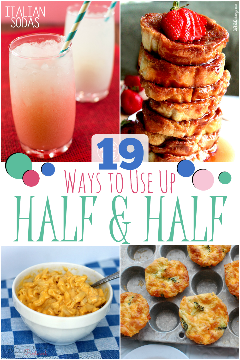 Got some half and half in your fridge that you need to use up? You can't go wrong with these 19 yummy recipes for using up leftover half and half!