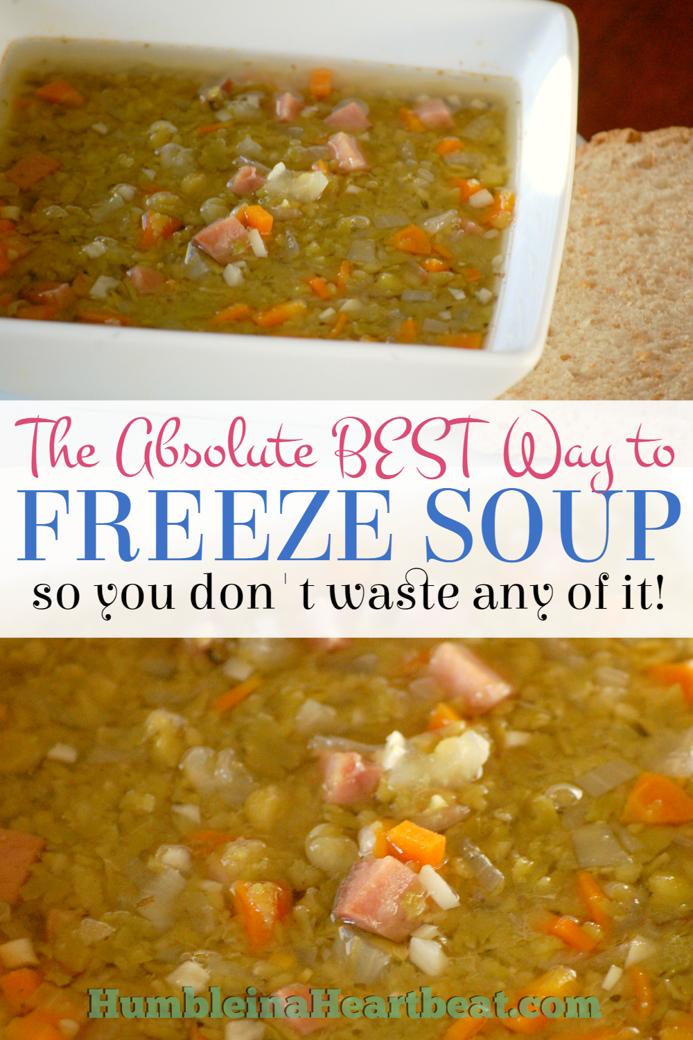 Ok, you have no idea how easy it is to freeze soup this way. So glad I pinned this! Soup's on!