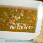 The Absolute BEST Way to Freeze Soup