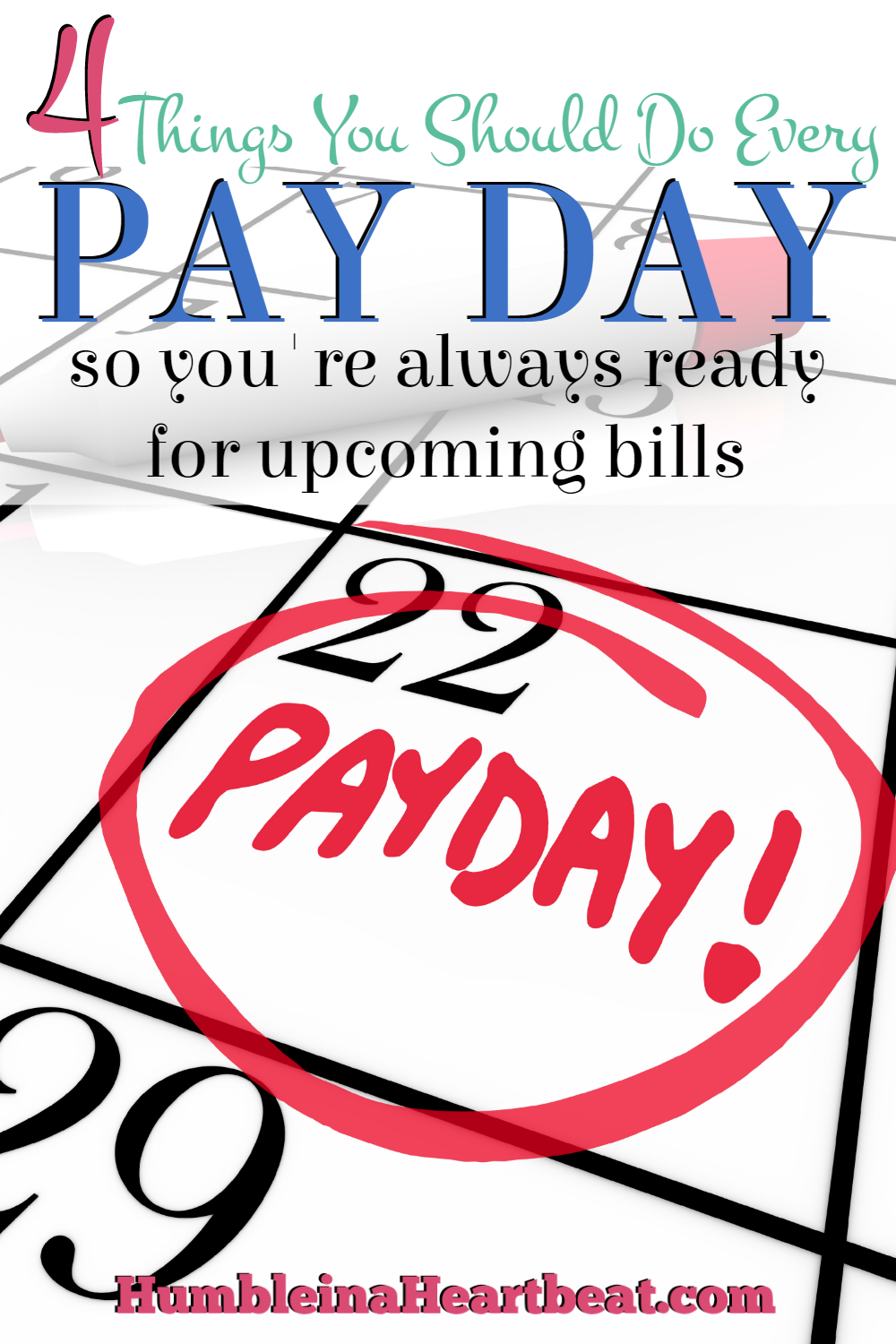 Tired of scrounging around for money a few days before you get paid? Start being diligent with your money the moment you receive it, and you'll soon find that you won't have to nickel and dime any more.