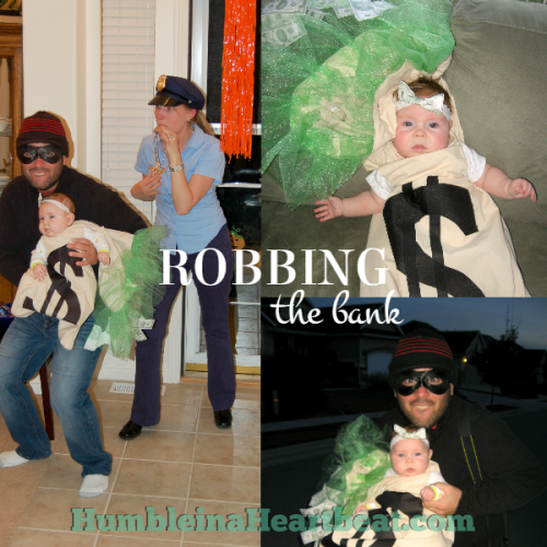 Family Halloween Costume Idea – Robbing the Bank