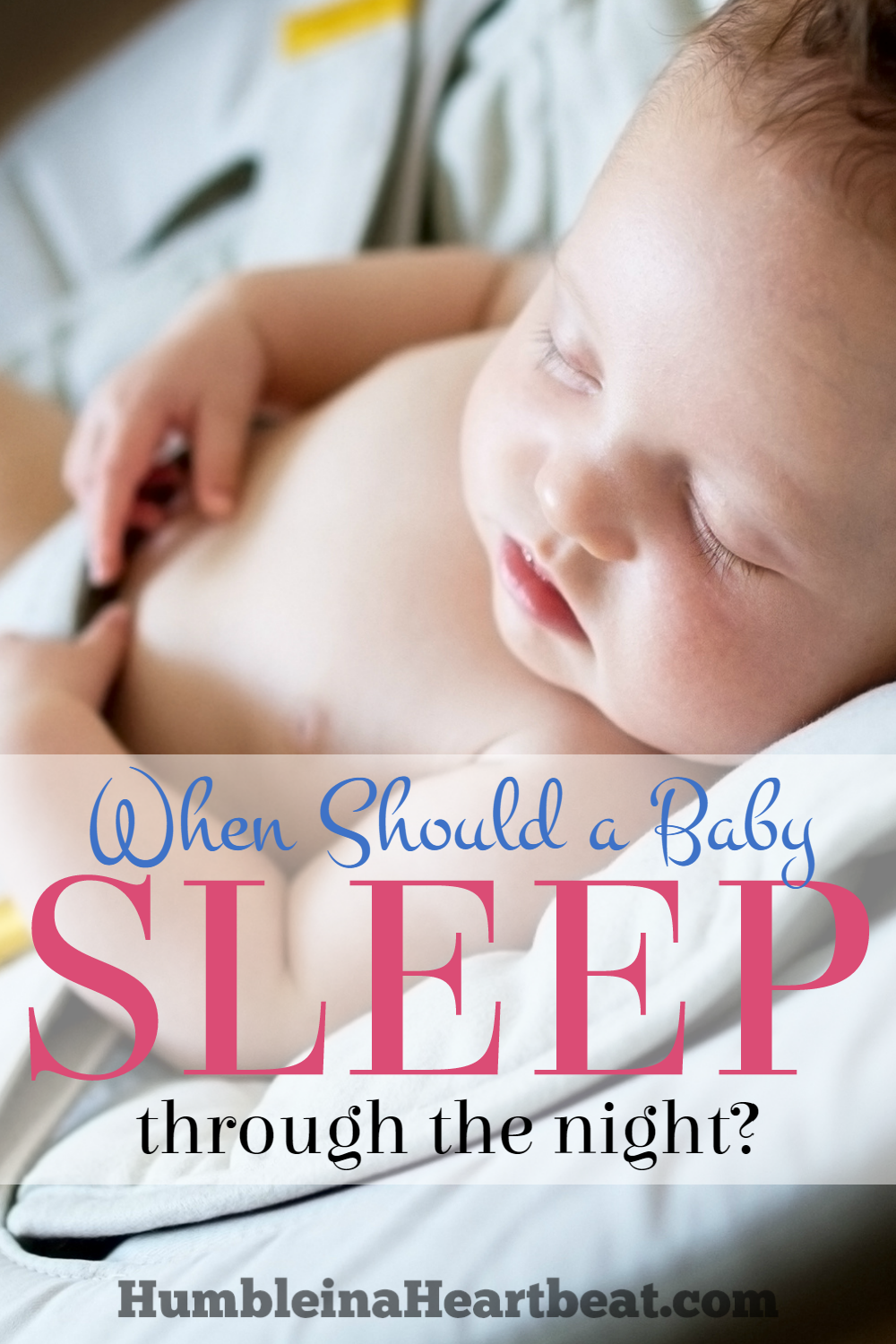 There's a lot of pressure to get your baby to sleep through the night by 3 or 4 months, isn't there? Is it really necessary to get your baby to sleep through the night during their first year? Find out the best approach here.