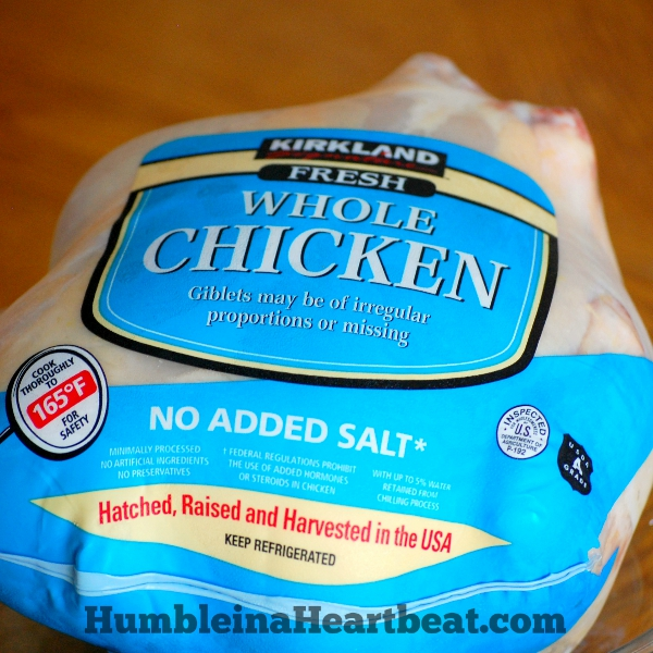 with your two chickens, get a brine ready for the first chicken. Brine ...