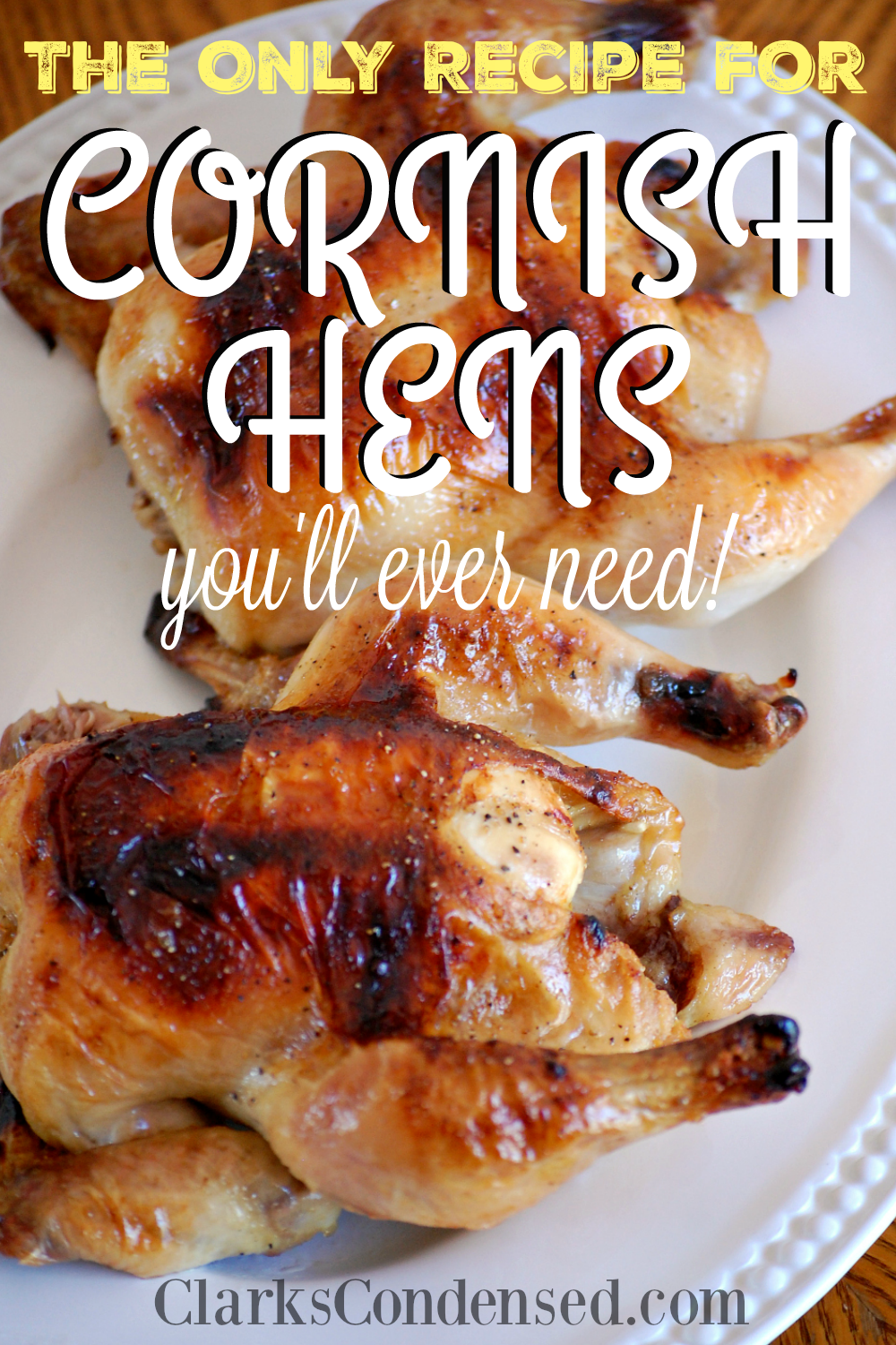 Easy recipes for game hens